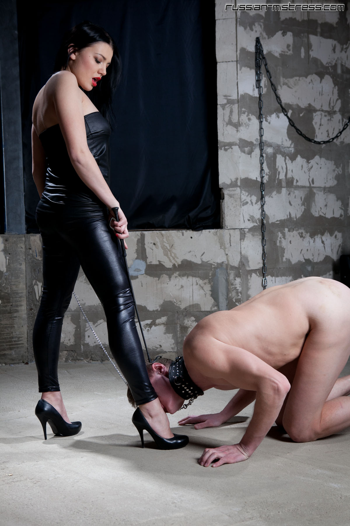 Femdom boy toy almost gets his tiny cock squashed during a raw CBT session